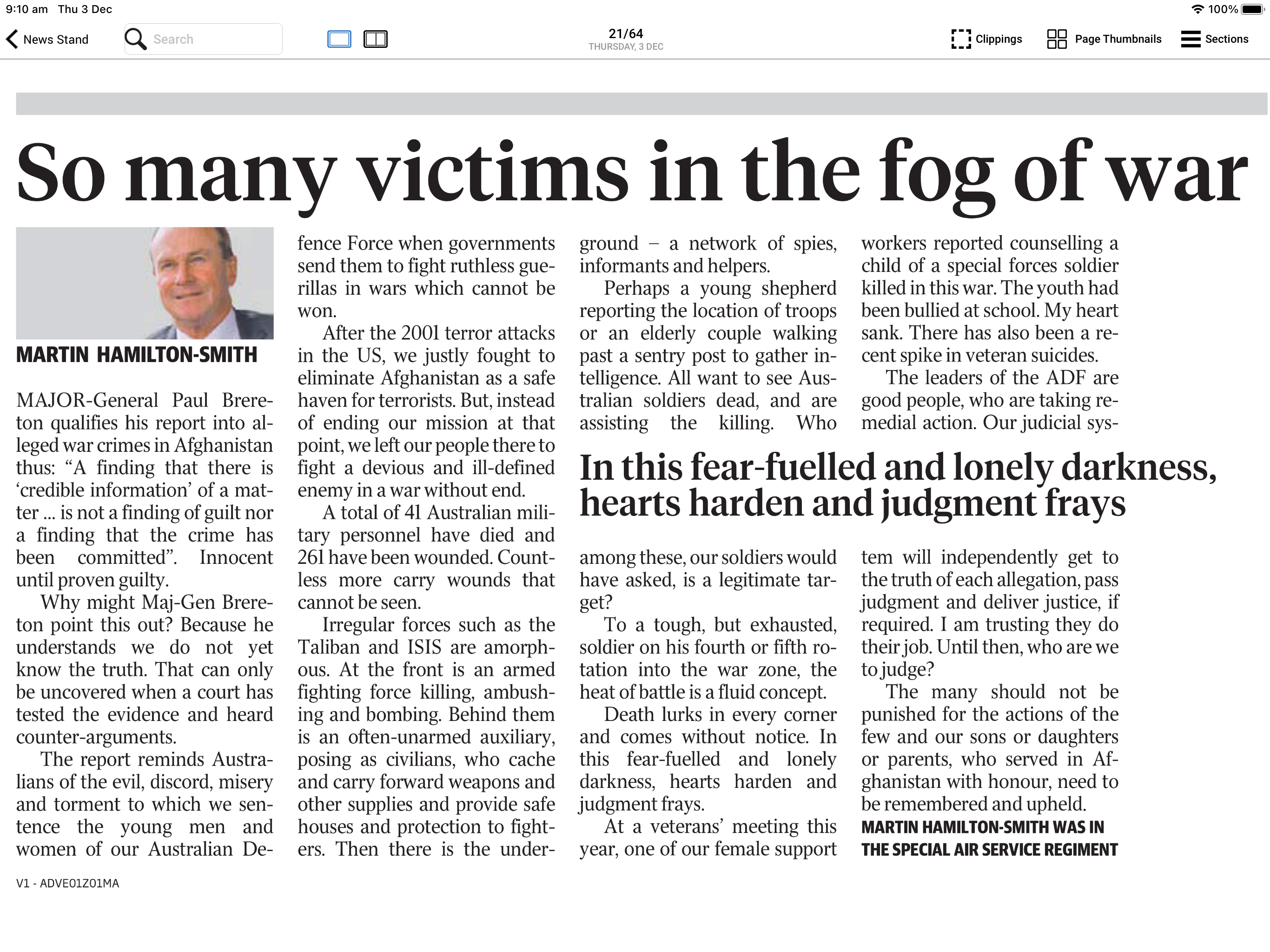 The Advertiser - So many victims in the fog of war